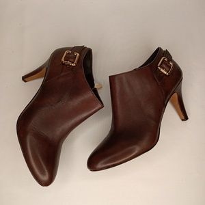 VINCE CAMUTO Brown Leather Booties Sz 7M